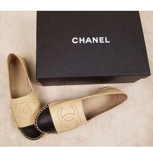 Chanel Espadrilles Beige & Black Size 41